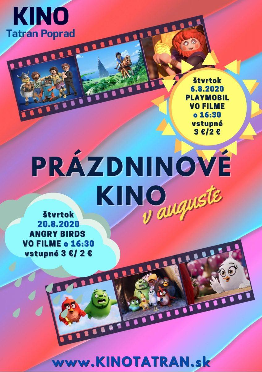 Prázdninové kino Kino Tatran Poprad August 2020
