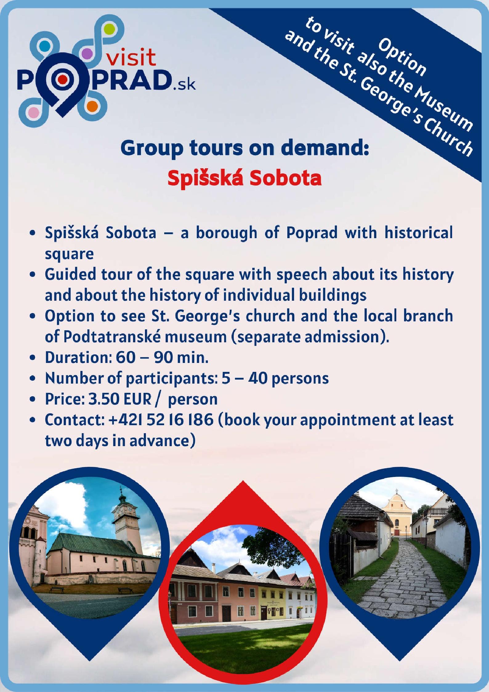 Spišská Sobota (duration: 2 hours), Price: 3.50 €
