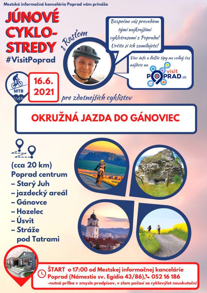 Júnové-cyklostredy-s-visit-poprad-vysoké-tatry-cyklotrasy-tip-na-výlet-Gánovce-MTB