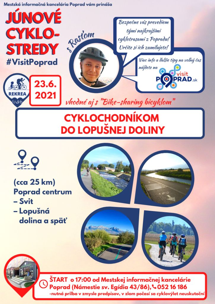 Júnové-cyklostredy-s-visit-poprad-vysoké-tatry-cyklotrasy-tip-na-výlet-lopušná-dolina-pre-deti-rodiny