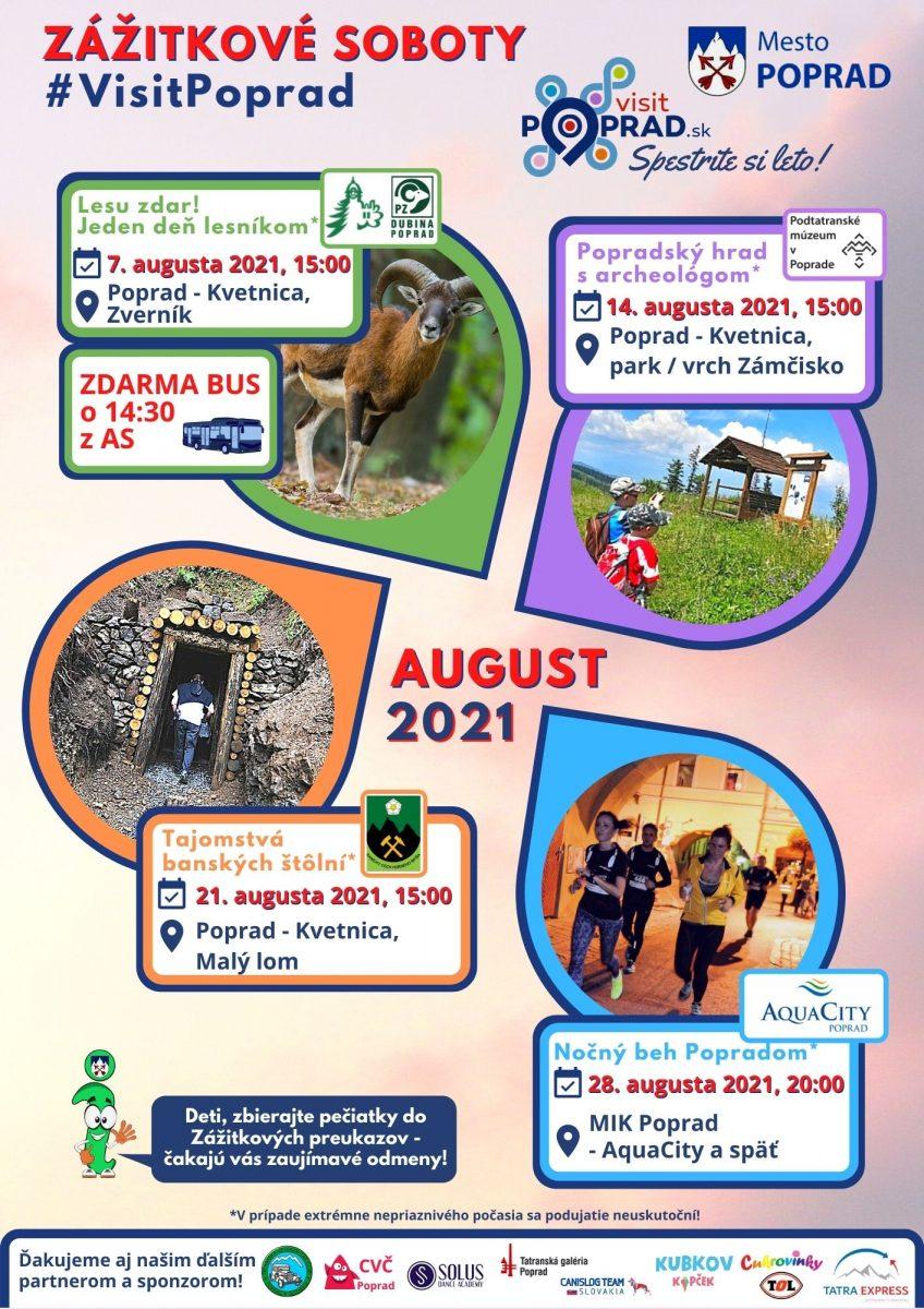 Zážitkové soboty #visitpoprad august 2021