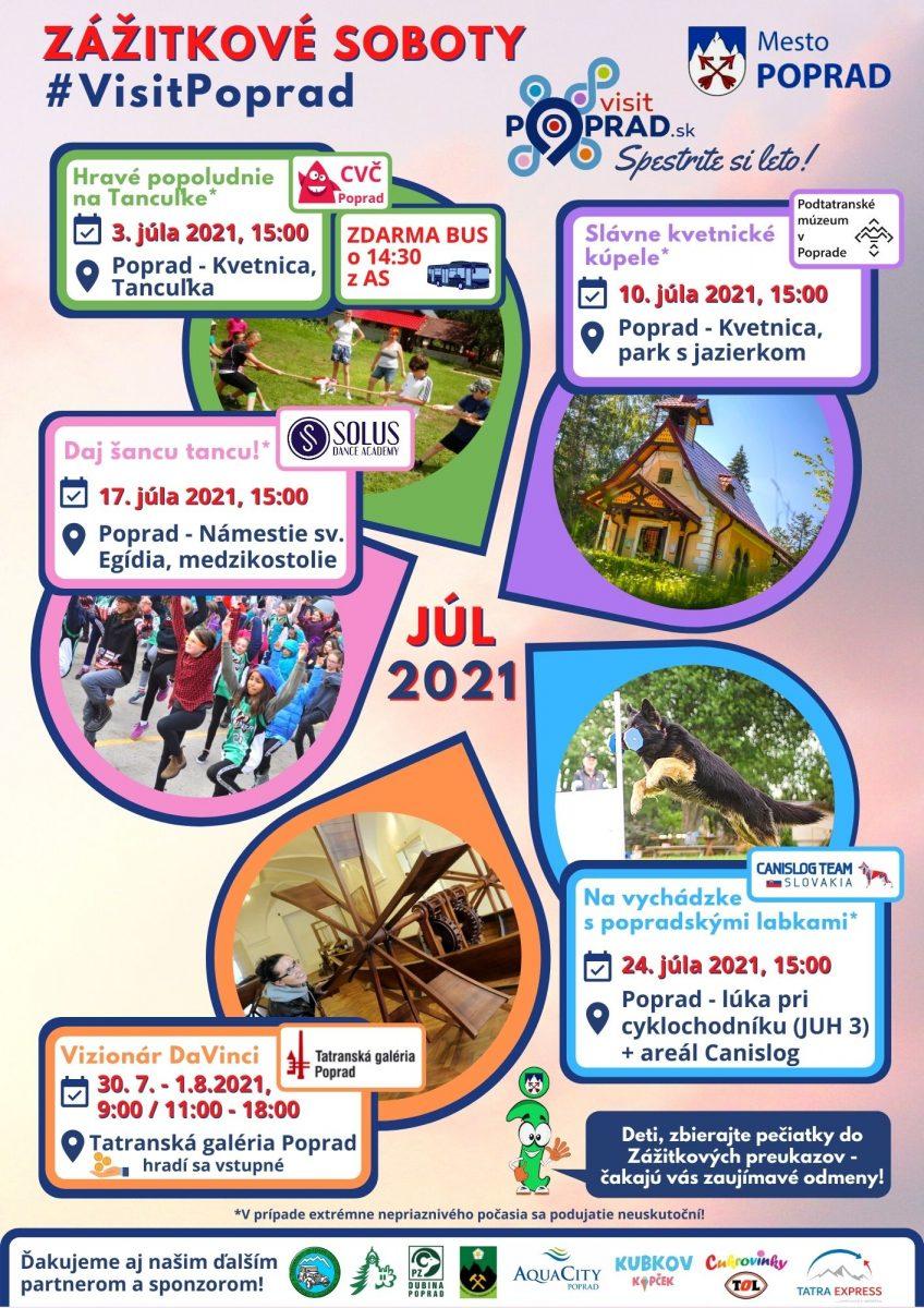 Zážitkové soboty #visitpoprad júl 2021
